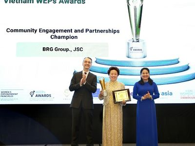 Tập đoàn BRG được vinh danh tại Giải thưởng Trao quyền cho phụ nữ (WEPs 2021)