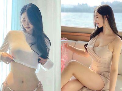 Hot girl Hàn Quốc khoe thân hình đồng hồ cát siêu nóng bỏng, phủ nhận tin đồn dao kéo