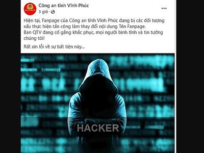 Tin tức thời sự mới nóng nhất hôm nay 26/10: Hacker táo tợn tấn công Facebook của Công an Vĩnh Phúc
