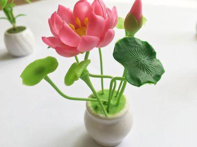Những chất liệu đơn giản để tự làm hoa sen độc lạ
