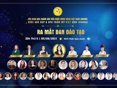 Khối Sắc đẹp & Spa thẩm mỹ Việt Nam ra mắt trực tuyến Ban đào tạo - Sự chuyên sâu trong cách chăm sóc sắc đẹp Việt