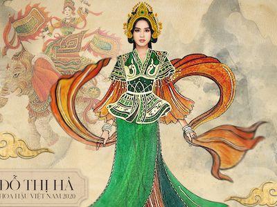 Hoa hậu Đỗ Thị Hà gây ấn tượng khi mang hình ảnh nữ tướng Bà Triệu đến Miss World 2021