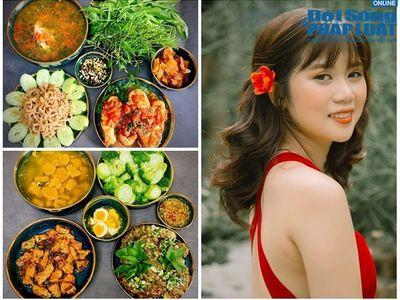 Cô gái Sài thành xinh đẹp nấu những món ăn quen thuộc nhưng có