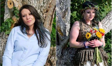 """Cộng đồng mạng - Bỏ mặc bạn trai cùng 2 con nhỏ, người phụ nữ quyết định """"kết hôn"""" với... cây"""