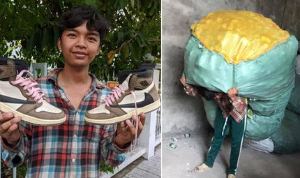 """Cộng đồng mạng - Thanh niên dành tiền bốc vác suốt 2 năm để sắm giày hiệu, dân mạng soi điểm """"giả tạo"""""""
