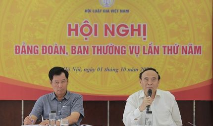 Hội Luật Gia - Hội nghị Đảng đoàn, Ban Thường vụ lần thứ 5 hội Luật gia Việt Nam