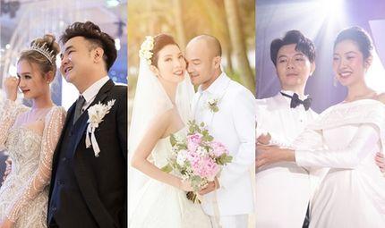 Chuyện làng sao - Điểm lại đám cưới sao Việt năm 2020: Xuân Lan, Tóc Tiên giản dị, Xoài Non như công chúa