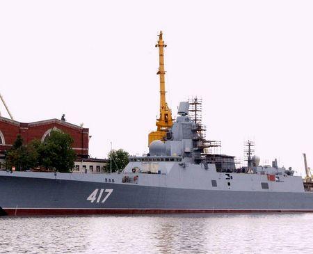 Tàu khu trục mang tên lửa dẫn đường 22350 của Hải quân Nga
