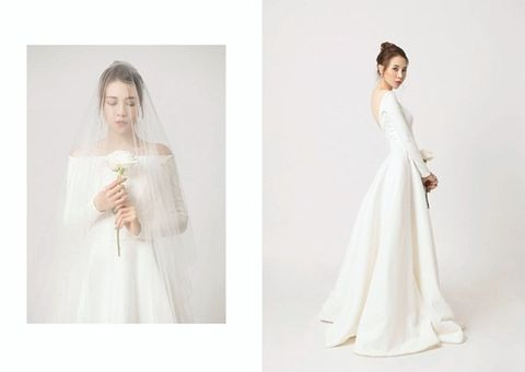 Tin tức giải trí - Đàm Thu Trang diện váy cô dâu lộng lẫy, tin đồn đám cưới tháng 7 là thật?