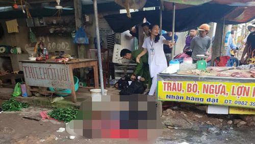 Nhân chứng bàng hoàng kể lại giây phút người phụ nữ bị bắn chết giữa chợ - Ảnh 1
