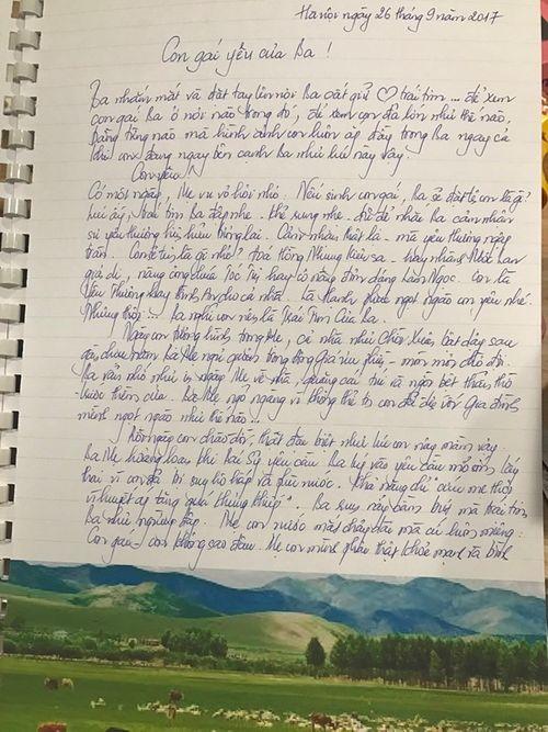 Xúc động bức thư cha gửi con gái dịp trung thu - Ảnh 1